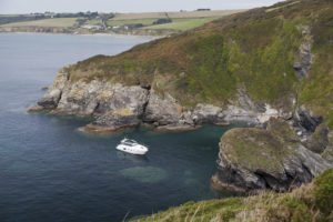 Cecienne in a West Cornwall cove