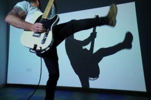 Music video guitar shot