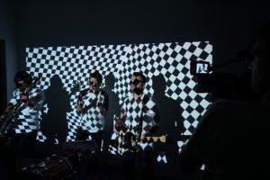 Music video band shoot