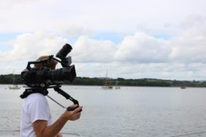 Filming on the water