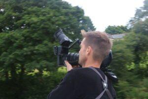 Fionn Crow on shoot
