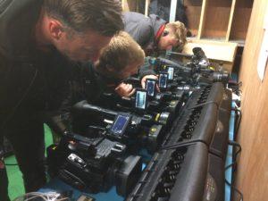 behind the scenes set up