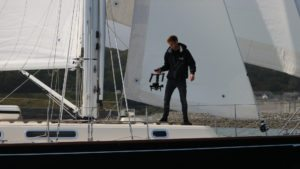 Yacht filming