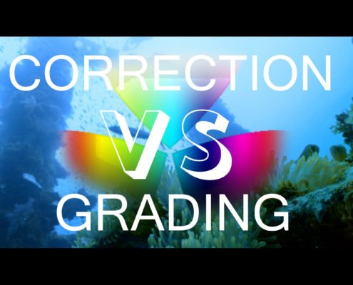 Thumbnail for the blog post. Correction vs Grading. Whats the difference
