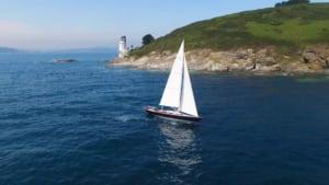 Rustler Yacht off St Anthony Head