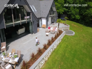Drone Shot House Paving