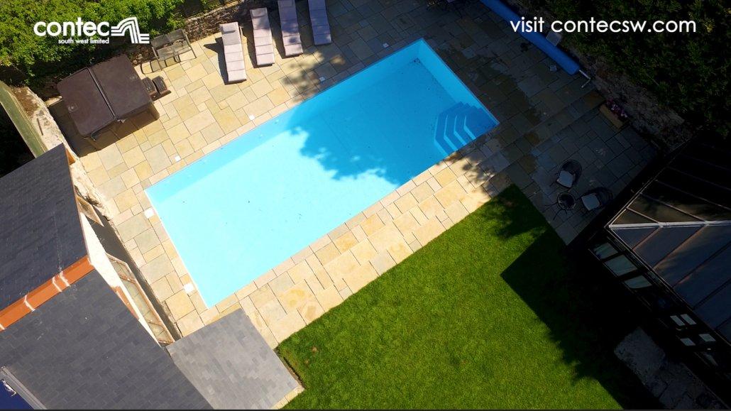 Contec paving around pool