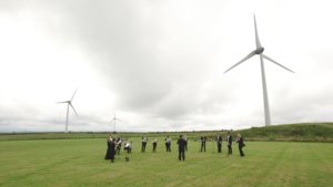 Orchestra and wind farm