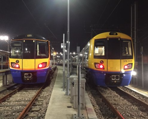 Overnight train cleaning at Wembley Depot