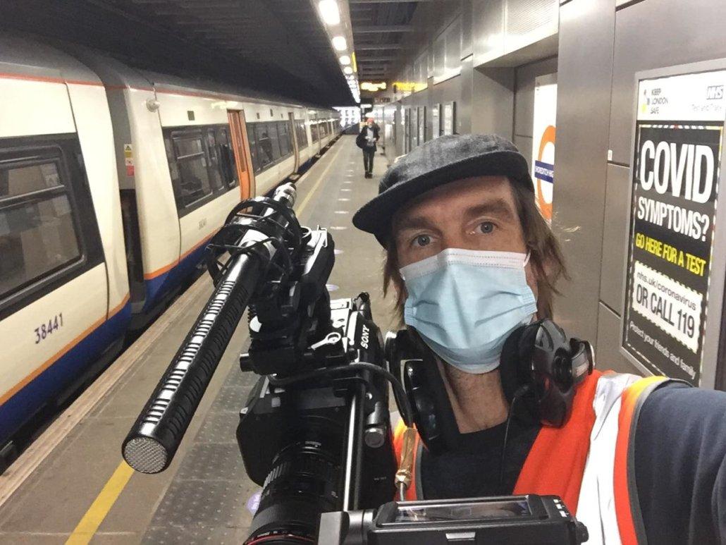 DoP on shoot in London