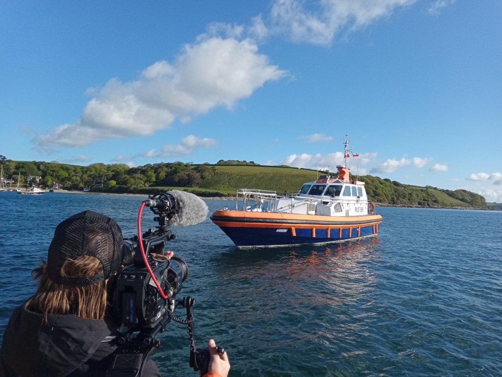 Fionn filming Pilot Boat Arrow