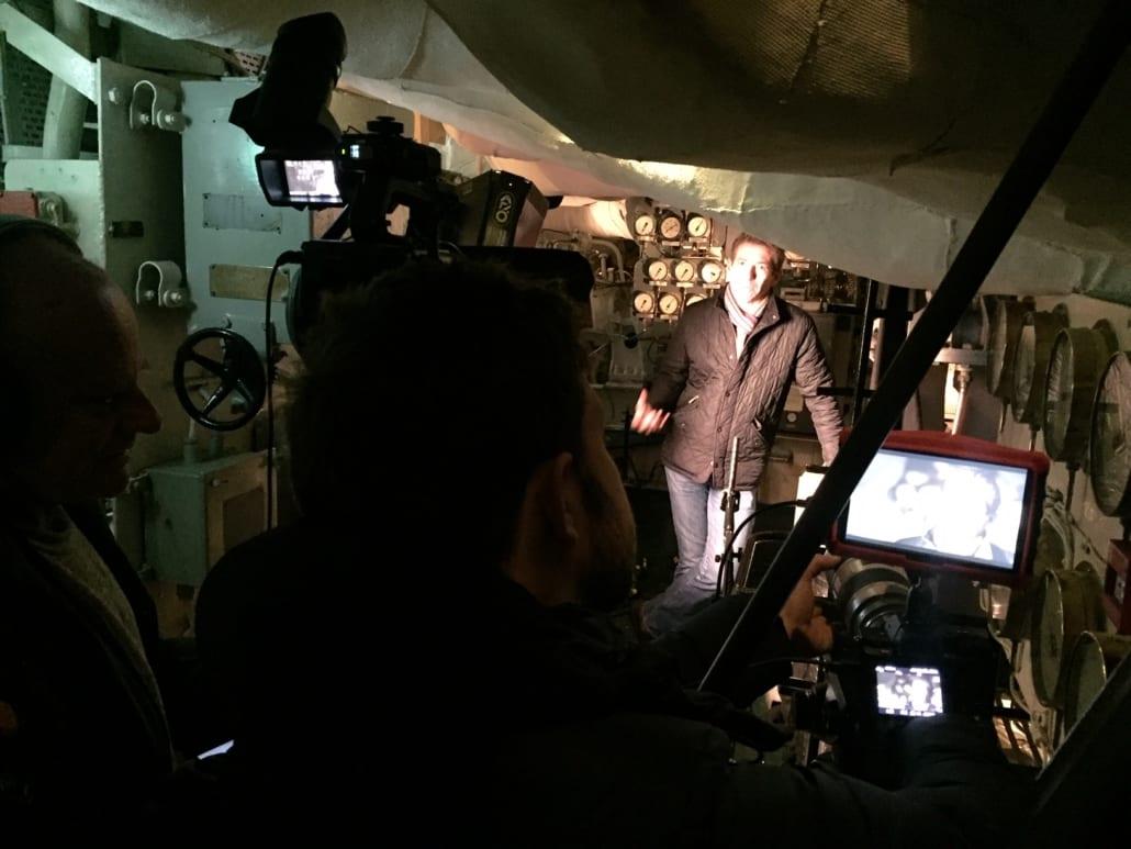 Filming Saul David HMS Belfast Truk Lagoon Documentary