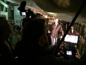 Filming Saul David HMS Belfast