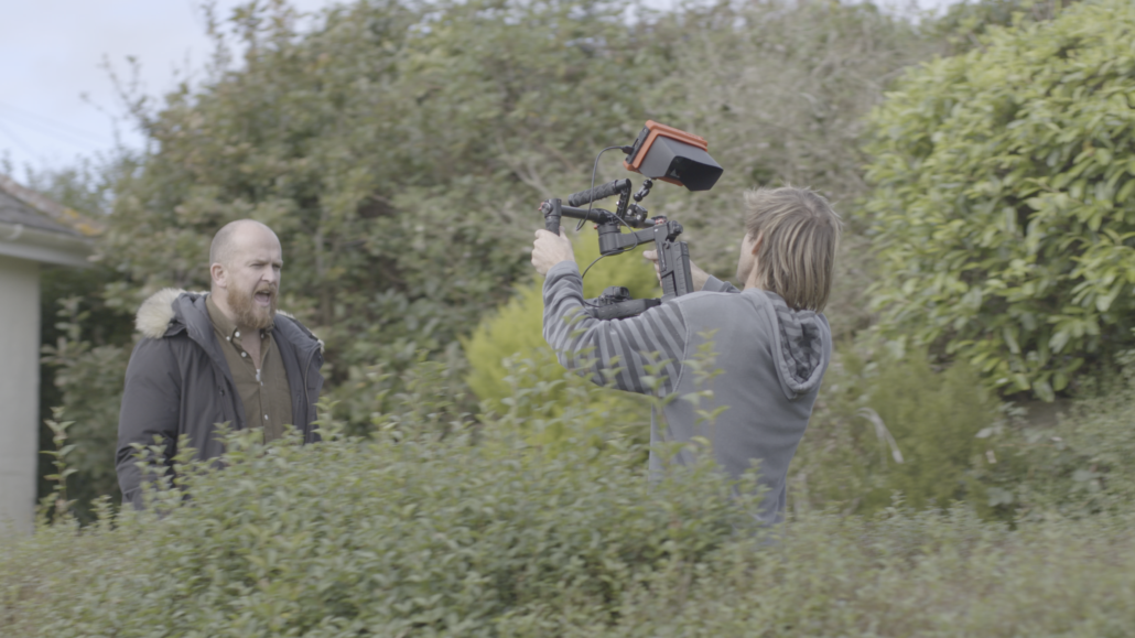 Fionn filming Kernow King