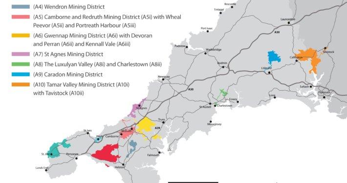 Location of Mining Heritage Sites
